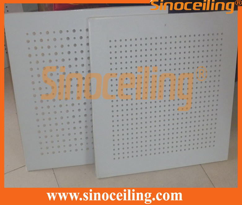perforated gypsum tile 6&9mm mixed