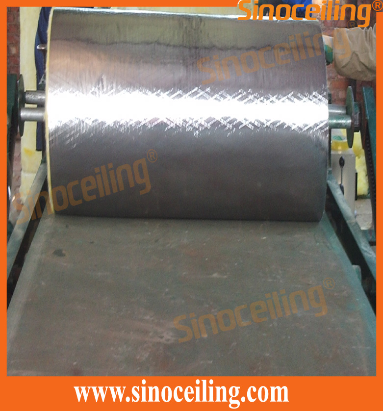 process of glasswool alu.foil laminated