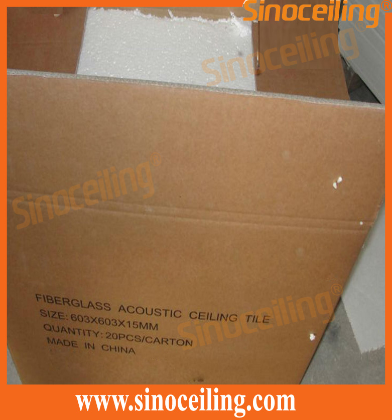 packing of fiberglass ceiling tile