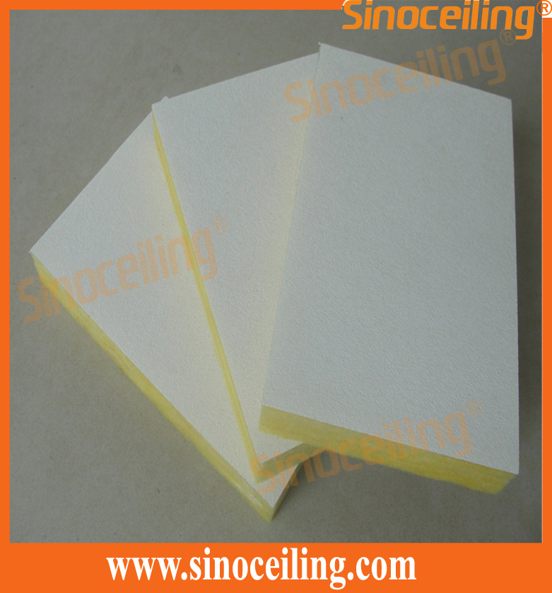 fiberglass ceiling tile bare side