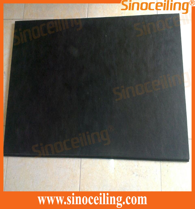 acoustic fiberglass ceiling black