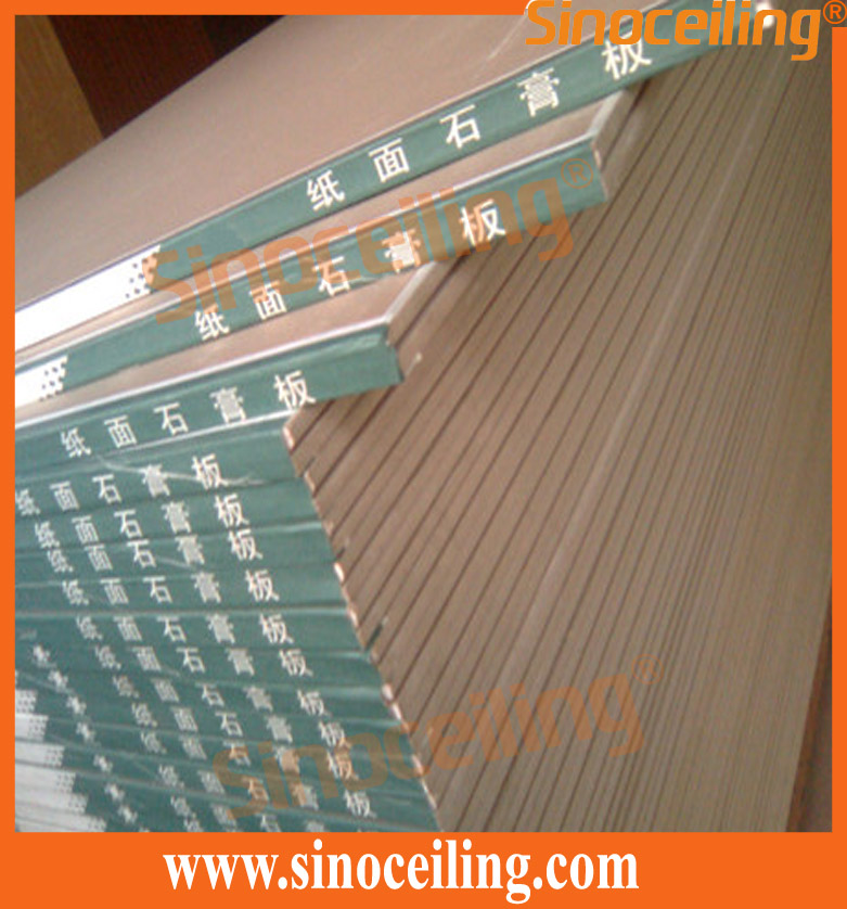 packing of wrapped edges plasterboard