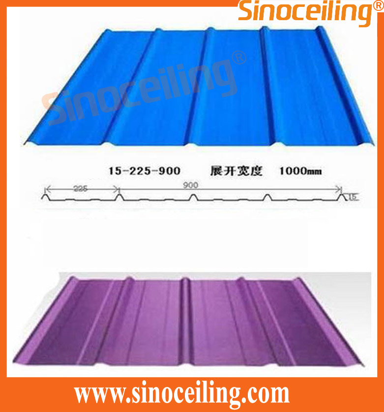 dimension of steel corrugated sheet