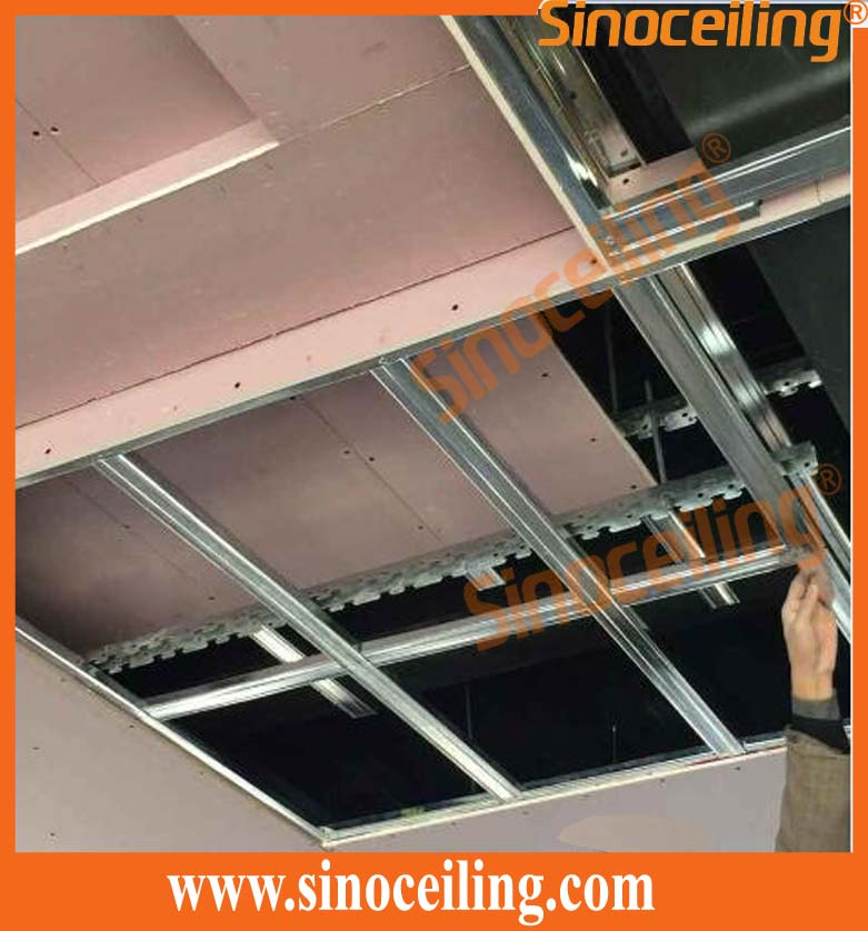 installation of drywall steel ceiling