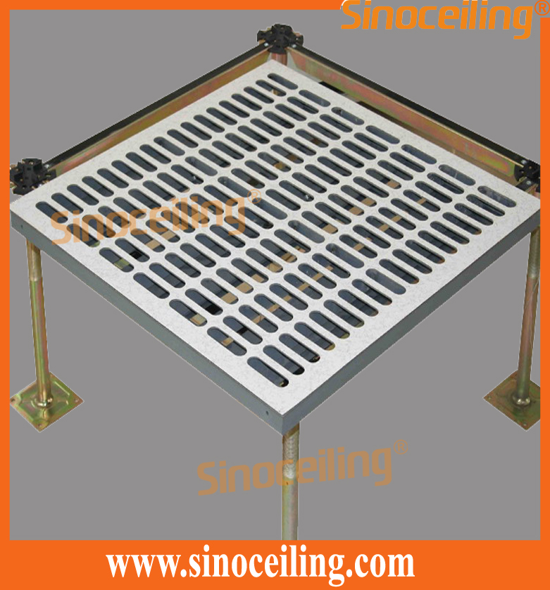 steel perforated raised floor airflow 45%